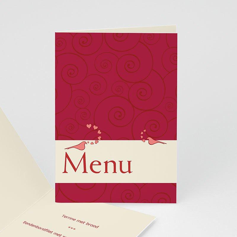 Personaliseerbare menukaarten huwelijk Romantisch menu