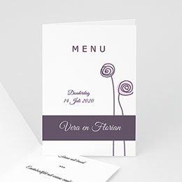 Personaliseerbare menukaarten huwelijk Menukaart bloemen