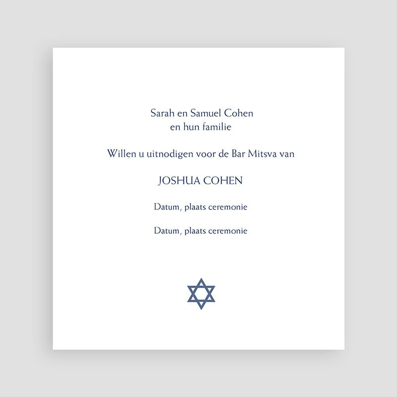 Uitnodigingen Bar Mitzvah Eilat pas cher