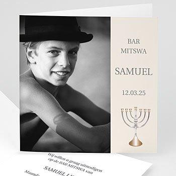 Bar mitsva uitnodiging Bar Mitswa Shalom