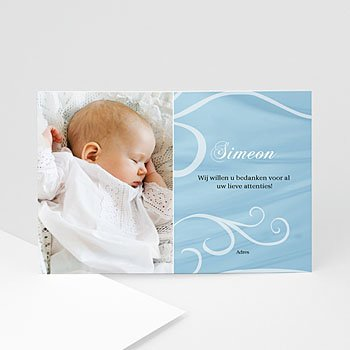 Bedankkaart doopviering jongen - Doopsel 1400 - 1