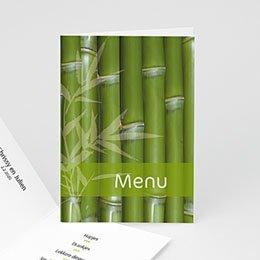 Personaliseerbare menukaarten huwelijk Bamboe menu