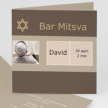 Bar mitsva uitnodiging - Bar mitswa 1440 - 1