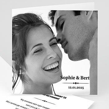 Personaliseerbare trouwkaarten - Confetti vierkant - 1