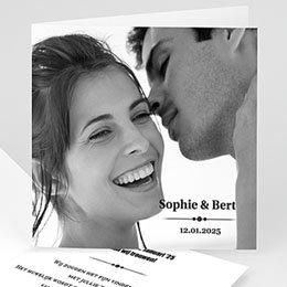 Aankondiging Huwelijk Confetti vierkant