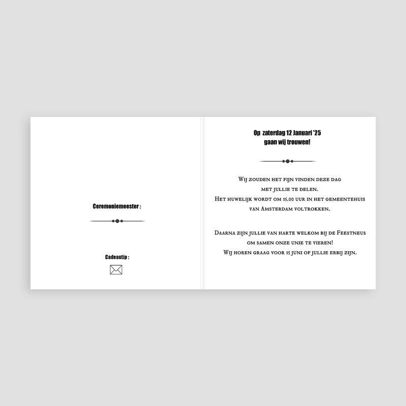 Trouwkaarten met foto Confetti vierkant pas cher