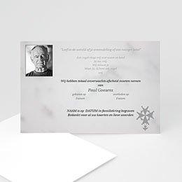 Aankondiging Décès Chrétien Portret kaart Hugenoten