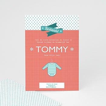 Bedankkaartje geboorte zoon - Tommy boy - 5