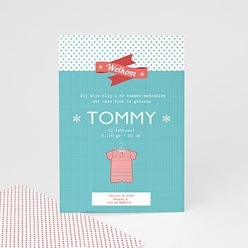 Geboortekaartje jongen - Tommy boy - 5
