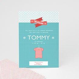 Geboortekaartje jongen Tommy boy