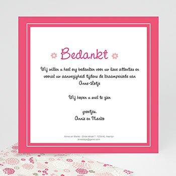 Bedankkaartje geboorte dochter - Anne - Lotje geboortekaartje meisjes - 5
