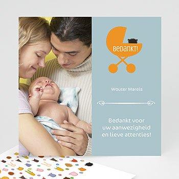 Bedankkaartje geboorte dochter - Wouter zijn wagen - 5