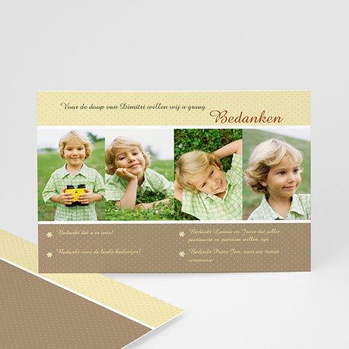Bedankkaart doopviering jongen - Dankwoord 14458 thumb