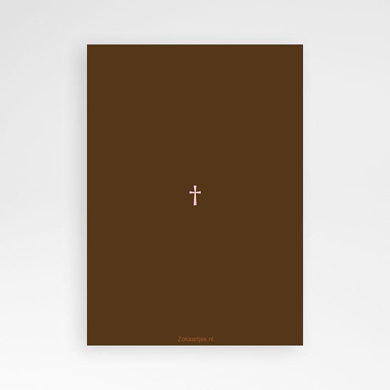 Vormsel - Bruine tinten fotokaart eerste communie 14671 thumb