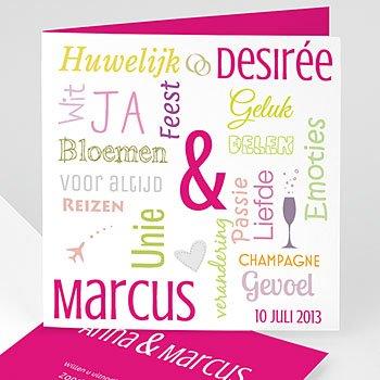 Personaliseerbare trouwkaarten - Mooie woorden 4371 - 5
