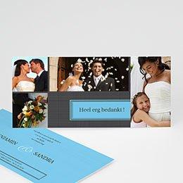 Bedankkaartjes Huwelijk Grijs geliefd
