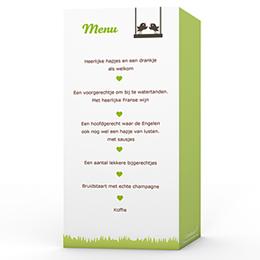 Personaliseerbare menukaarten huwelijk Appelbomen Lief