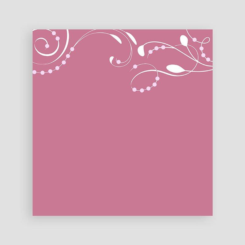 Doopkaartje meisje klassiek roze moderne letters pas cher