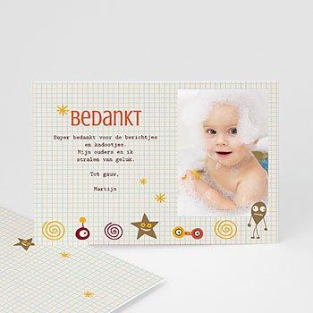 Bedankkaartje geboorte zoon - geboorte Martijn - 5