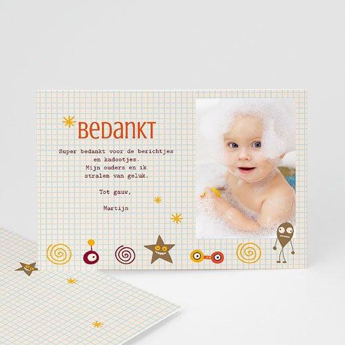 Bedankkaartje geboorte zoon - geboorte Martijn 14843 thumb