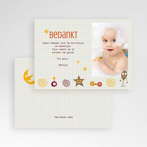Bedankkaartje geboorte zoon - geboorte Martijn 14844 thumb