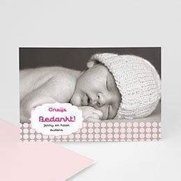 Bedankkaartje geboorte dochter geboren voor Sanne