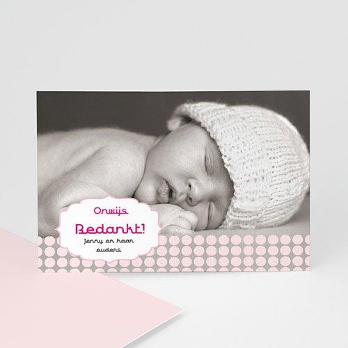 Bedankkaartje geboorte dochter - geboren voor Sanne 14912