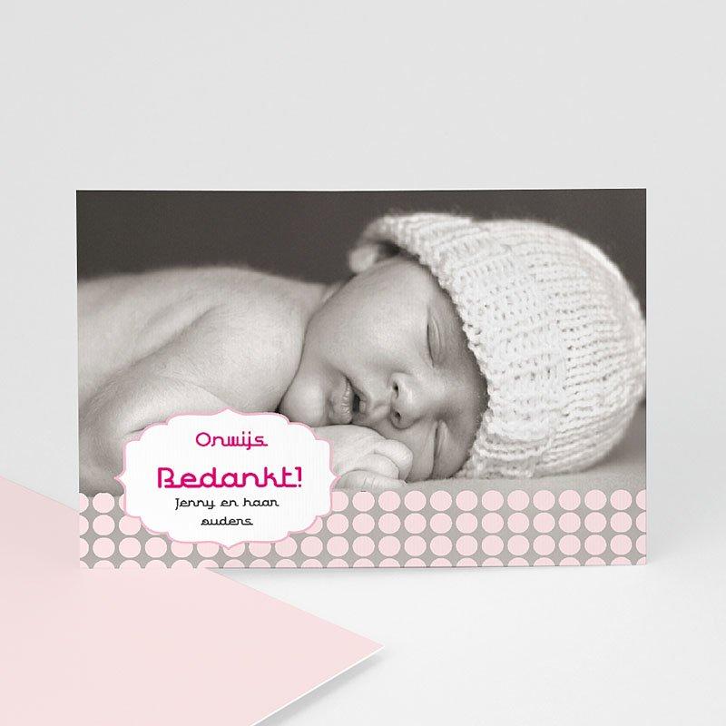Bedankkaartje geboorte dochter - geboren voor Sanne 14912 thumb