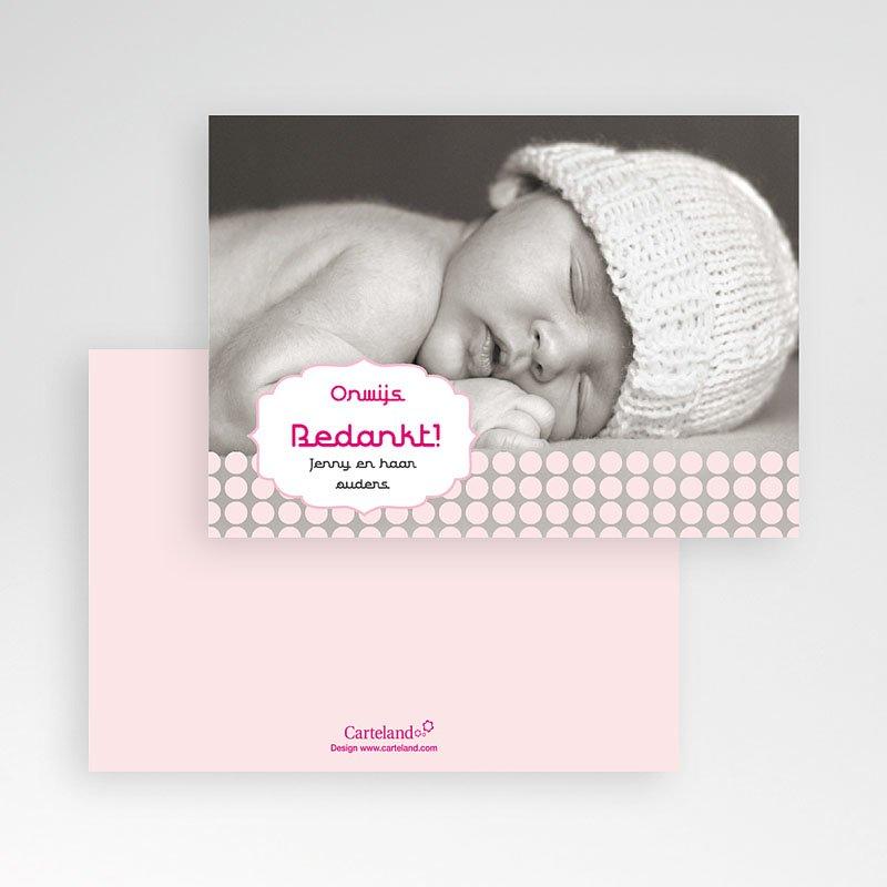 Bedankkaartje geboorte dochter - geboren voor Sanne 14913 thumb