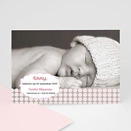 Aankondiging Geboorte geboren voor Sanne