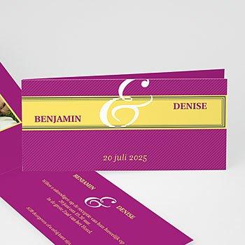 Personaliseerbare trouwkaarten -  - 5