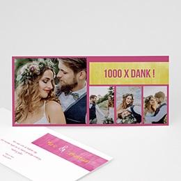 Bedankkaartjes huwelijk - in fluo - 5