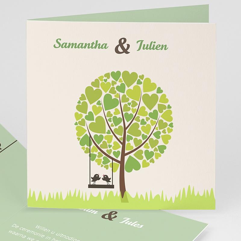 Trouwkaarten Groen - Appelbomen Lief 15443 thumb