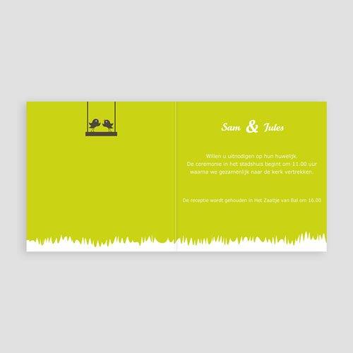 Trouwkaarten Groen - Appelbomen Lief 15444 thumb