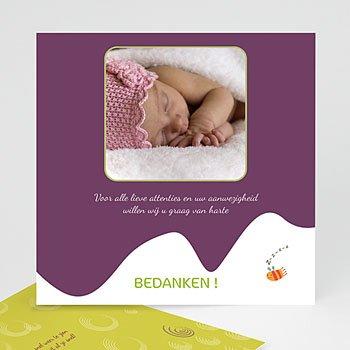 Bedankkaartje geboorte dochter - Vogelhuisje meisje - 5