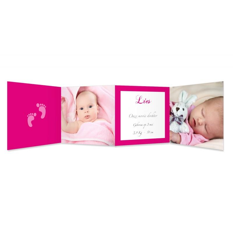 Geboortekaartje meisje - Ze laat haar eerste sporen na 15554 thumb