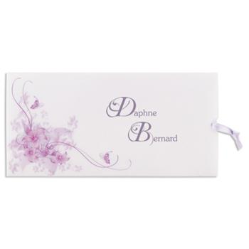 Archief - JS-192 - Uitnodiging violet met bloemarabesken - 5