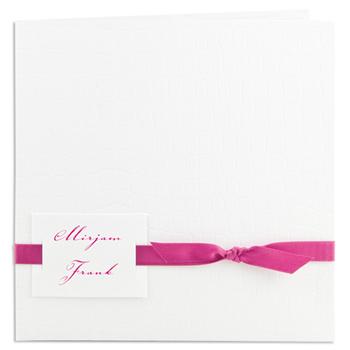 Archief - JS-206 - Uitnodiging kroko wit, lint fel roze - 5