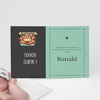 Bedankkaartje geboorte dochter - Geboortekaartje leeuw - 7