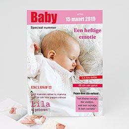 Aankondiging Geboorte Tijdschrift baby