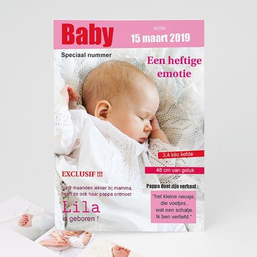Geboortekaartje meisje - Tijdschrift baby 15950 thumb
