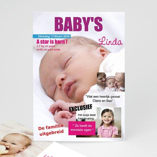 Geboortekaartje meisje - Baby cover 15955 thumb