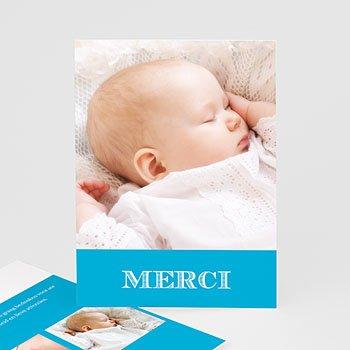 Bedankkaart doopviering jongen - Typo blauw - 4