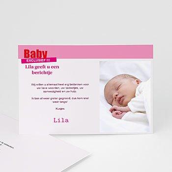 Bedankkaartje geboorte dochter - Tijdschrift baby - 1