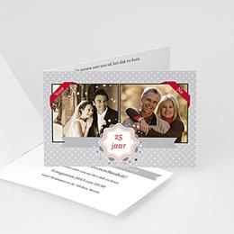 Uitnodiging Anniversaire mariage delen met ons