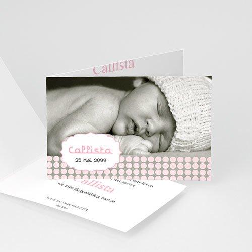 Geboortekaartje meisje - geboren voor Sanne 16144 thumb