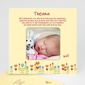 Bedankkaartje geboorte dochter - Vogelhuisje voor mijn baby - 1