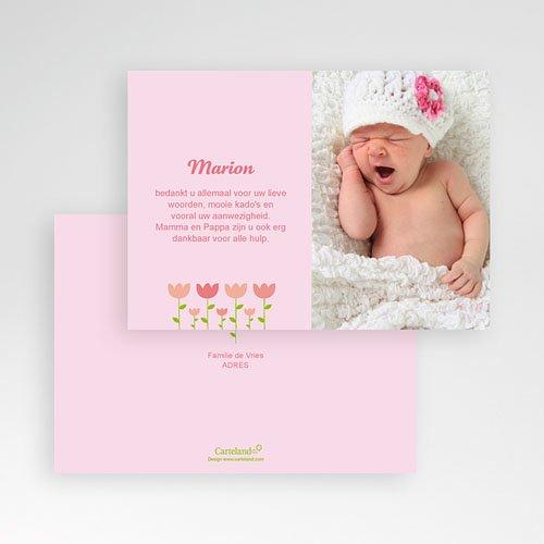 Bedankkaartje geboorte dochter - Tulpen baby 16153 thumb