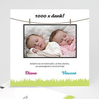 Bedankkaartje geboorte dochter - In het veld - 1