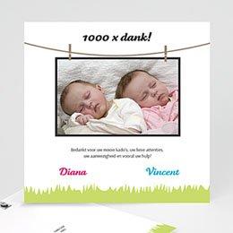 Bedankkaartje geboorte dochter In het veld